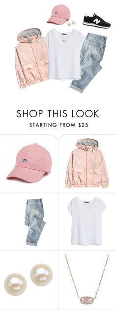 """""""college outfit"""" by preppyandreap ❤ liked on Polyvore featuring Southern Tide, Wrap, MANGO, Honora, Kendra Scott and New Balance"""