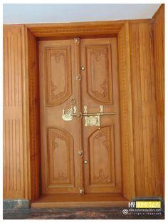 Main Double Door Designs For Home Interior Design Main Entrance Door Design, Wooden Main Door Design, Front Door Design, Front Door Decor, Entrance Doors, Barn Doors, Door Design Photos, Home Door Design, Bedroom Door Design