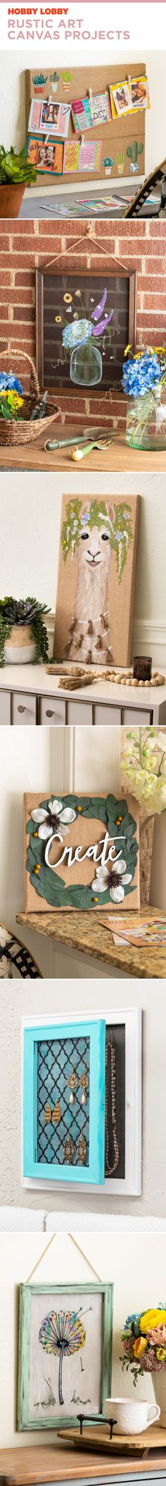 Rustic Art Canvas Projects