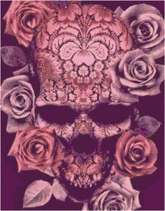 Pink Sugar Skull Cross Stitch Printable Needlework Pattern - DIY Crossstitch Chart, Relaxing Hobby, Instant Download PDF Design