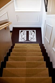 Love this monogram on the stairs!