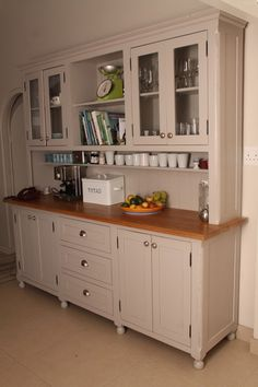 kitchen dresser - like a giant Hoosier cabinet ; Home Kitchens, Kitchen Dresser, Kitchen Design, Kitchen Decor, Cabinet, Kitchen, Kitchen Redo, Kitchen Cabinets, Trendy Kitchen