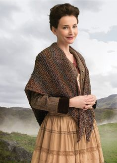 Outlander the Series Kit: Wavering Both Sides Now Shawl (Knit). Each kit includes all the yarn you need for the project, as well as a copy of the pattern.