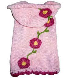 Собака свитер Цветок Толстовка Розовый