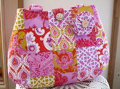 Handbag Purse Tote Matching Removable Fabric by Antiquebasketlady, $40.00 #teamsellit