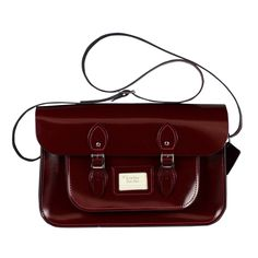 GOT IT! :) Patent Oxblood Red Satchel 15 inch / The Leather Satchel Company