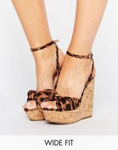 c758239e06e ASOS TRAFFIC JAM Wide Fit Wedges Killer Heels