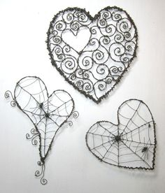 barbed wire hearts