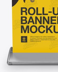 Roll-up Banner Mockup – Front View Close-Up