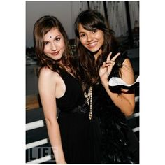 Erin Sanders, Victoria Justice - Jillian Clare's Sweet 16 Charity... ❤ liked on Polyvore featuring erin, erin sanders, big time rush ve zoey 101