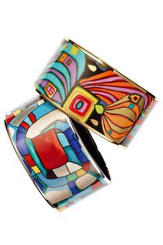 <3 Hundertwasser's colourful worlds - FREYWILLE Diva Bangles    10002 Nights & Emotional Spirals