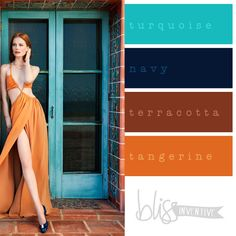 Turquoise, navy, terracotta, and tangerine. Fall Color Palette, Colour Pallette, Color Palate, Murs Turquoise, Deco Turquoise, Turquoise Makeup, Turquoise Bathroom, Blue Color Schemes, Aqua Color