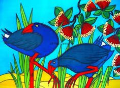 Image result for pukeko painting May Arts, Maori Art, Art Classroom, Tweety, Birds, Crafty, Painting, Fictional Characters, Inspiration