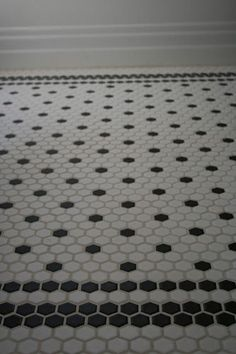 Creative Tile Flooring Patterns - hex tile - black and white pattern