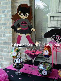 Girls superhero birthday party ideas. Batgirl birthday party
