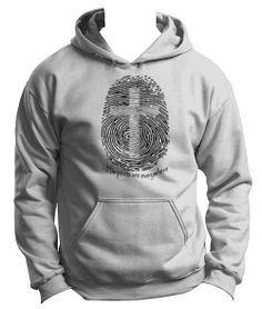 Peace Be With U - His Prints Are Everywhere- Christian Hoodie, $34.95 (http://www.peacebewithu.com/his-prints-are-everywhere-christian-hoodie/)