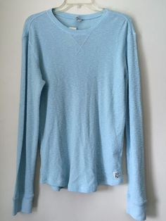 NEW LUCKY BRAND LONG SLEEVE T SHIRT MENS CLOTHING TSHIRT SIZE MEDIUM SOFT BLUE  #LUCKYBRAND #BasicTee #mensstyle #fashion #men