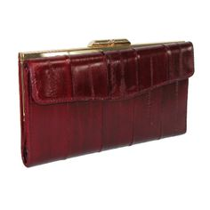 Eel Skin Wallet Clutch by Masters. This wallet has many features to help you stay organized