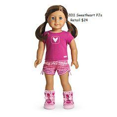 American Girl Addy/'s Nightgown NIB Nightie Sleepwear Retired