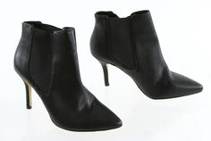 Ann Taylor Black Slim High Heel  Slip On Ankle Boots 7M #AnnTaylor #AnkleBoots #Casual