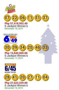 Lotto Result Today December 18, 2019. GRAND LOTTO 6/55.
