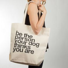 A tote bag a dog mom will use so much, you'll get tired of seeing it.