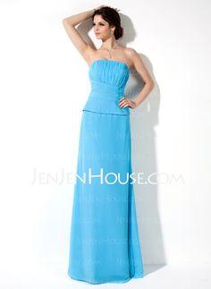 Bridesmaid Dresses - $106.99 - A-Line/Princess Strapless Floor-Length Chiffon Bridesmaid Dress With Ruffle (007001780) http://jenjenhouse.com/A-Line-Princess-Strapless-Floor-Length-Chiffon-Bridesmaid-Dress-With-Ruffle-007001780-g1780