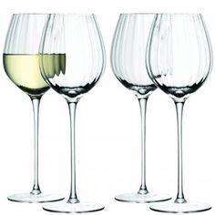 LSA International Aurelia White Wine Glasses Set of 4 - LSA International from Hurn & Hurn UK