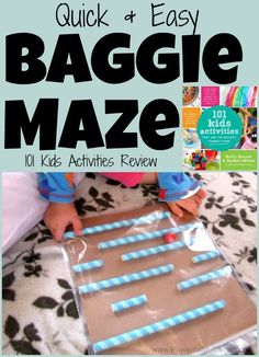 Quick  Easy Baggie Maze from http://PowerfulMothering.com