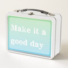 Good Day Quote Motivational Inspiration Typography Metal Lunch Box - quote pun meme quotes diy custom