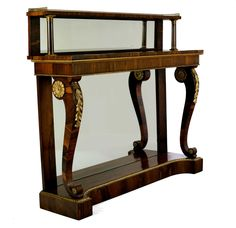 Antique Rosewood Console Table Regency Period