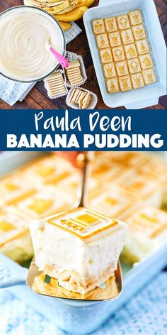 Paula Deen Banana Pudding recipe - Out of this world Banana Pudding recipe! Paula Deen Banana Pudding Recipe aka Not Yo' Mama's Banana Pudding - so thick you can slice it! Southern style banana pudding with buttery chessman cookies. Winter Desserts, Great Desserts, Köstliche Desserts, Delicious Desserts, Dessert Recipes, Plated Desserts, Small Desserts, Pudding Desserts, Dinner Recipes