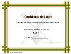 Certificado de Logro en el Béisbol para imprimir los certificados, gratis para descargar e imprimir