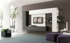 Resultado de imagen de muebles de tv a pared