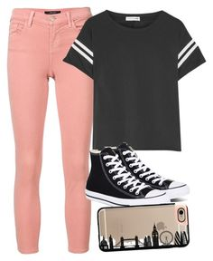 """""""Basic"""" by emmafetzer on Polyvore featuring J Brand, rag & bone, Converse and Casetify"""