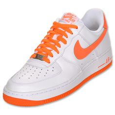 sports shoes 823ee a6e53 Mens Nike Air Force 1 Low  FinishLine.com  WhiteTotal Orange Nike