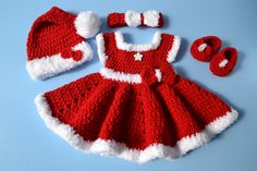 Excited to share the latest addition to my shop: Crochet Newborn Baby Girl Christmas Santa Dress Outfit Set Baby Girl Outfit Baby Photo Prop Newborn Photo Outfit Girl Baby Girl Red Dress etsy. Baby Girl Red Dress, Baby Girl Christmas Dresses, Red Christmas Dress, Christmas Baby, Crochet Christmas, Newborn Christmas, Dress Red, Baby Dress, Christmas Ideas