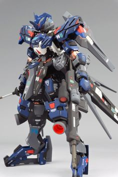 Full Mechanics Gundam Vidar - Painted Build Modeled by 제브리츠 MK. Gundam Vidar, Crazy Robot, Blood Orphans, Gundam Iron Blooded Orphans, Gundam Mobile Suit, Frame Arms Girl, Gundam Custom Build, Lego Mecha, Gundam Art