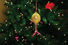 KrinklesOnline by Patience Brewster - 2011 Krinkles Louise the Squeeze Lime Ornament