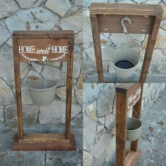 Pallet stand with that perfect amount of rustic charm to welcome you home!