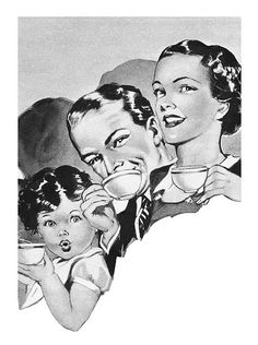 Detail from a 1952 Ovaltine ad Old Advertisements, Ads, Ovaltine, Big Chill, Happy Day, London England, Vintage Ladies, Old Things, Explore