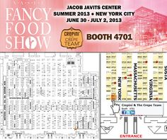 Summer Fancy Food Show 2013  Jacob Javits Center map CREPiNi BOOTH 4701 #SFFS13