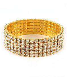 awesome Felicity Rhinestone Bracelet(Clear)