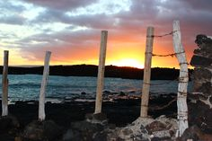 Makenna Point - Maui.  Sunset at the southern most point of the United States