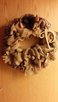 Burlap n cheetah print wreath