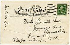 vintage food clipart | vintage whitney made christmas postcard back, postally used, digital ...