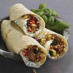 Rezept für Couscous-Wraps mit Ratatouille