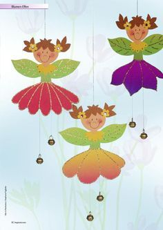 Inspirationen-März-2012 | PDF Flipbook Autumn Crafts, Spring Crafts, Diy And Crafts, Crafts For Kids, Kindergarten Projects, Puppet Crafts, Paper Birds, School Decorations, Diy Hanging