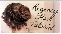 Easy Regency Era Hairstyle Tutorial~Long Hair~No-Heat Austen~Period Drama Hairdo