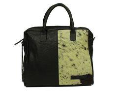Bag2Bag Laptoptas Brookline Koeienvacht Black